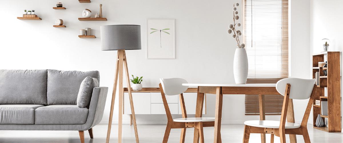 Moderne, frisse woonkamer